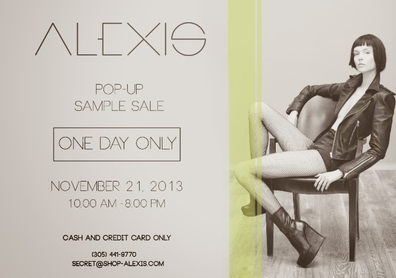 ALEXIS POP-UP SAMPLE SALE